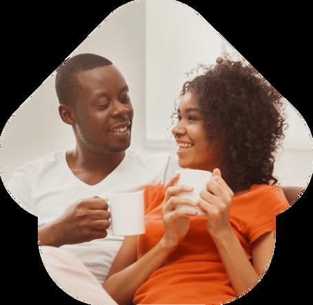 Momentos de felicidade de um casal